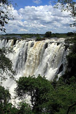 Victoria Falls On The Zambezi River Print by Aidan Moran