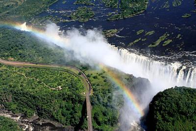 Rainbow Over Victoria Falls  Print by Aidan Moran