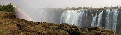 Victoria Falls With Rainbow Print by Panoramic Images
