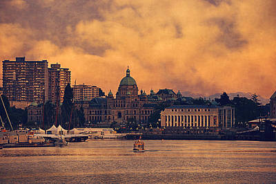 Tourist Attraction Digital Art - Victoria Western Canada's Oldest City by Maria Angelica Maira