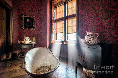 Victorian Bathroom Print by Adrian Evans