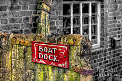 Victorian Boat Dock Sign Print by Adrian Evans