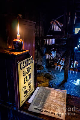 Factory Photograph - Victorian Candle Shop by Adrian Evans