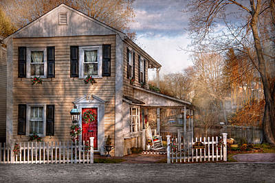 Home-sweet-home Photograph - Victorian - Clinton Nj - Dreaming Of Skating Again  by Mike Savad