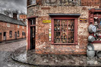 Window Signs Photograph - Victorian Corner Shop by Adrian Evans