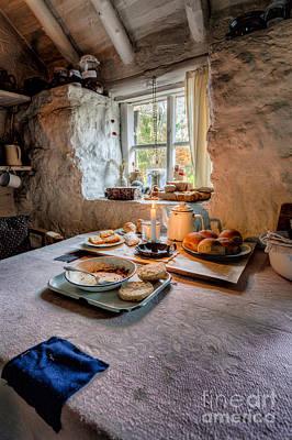 Victorian Cottage Breakfast Print by Adrian Evans