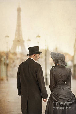 Husband Waiting Photograph - Victorian Couple In Paris by Lee Avison
