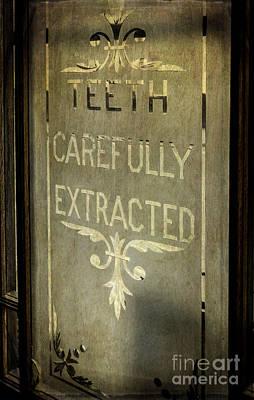 Victorian Dentist Sign Print by Adrian Evans