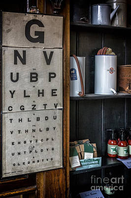 Victorian Eye Chart Print by Adrian Evans
