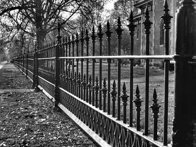 Black Metal Fence Photograph - Victorian Fence by Jane Linders