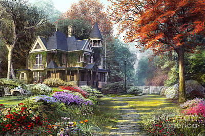 Mansions Digital Art - Victorian Garden by Dominic Davison