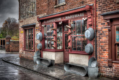 Old Time Photograph - Victorian Hardware Store by Adrian Evans