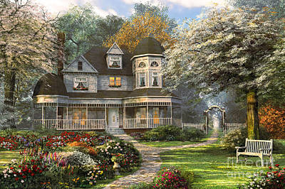 Benches Digital Art - Victorian Home by Dominic Davison