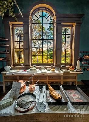 Victorian Kitchen Window Print by Adrian Evans