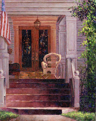 Porch Painting - Victorian Rocking Chair by Susan Savad