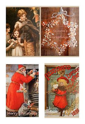 Victorian Season's Greetings Print by The Creative Minds Art and Photography