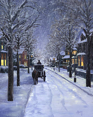 Carriage Painting - Victorian Snow by Alecia Underhill
