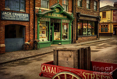Canals Digital Art - Victorian Town by Adrian Evans