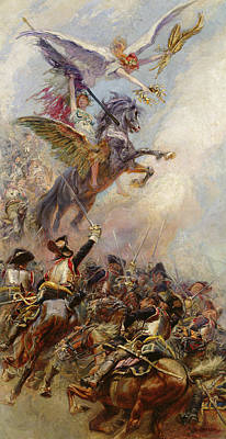 Pegasus Painting - Victory by Jean-Baptiste Edouard Detaille