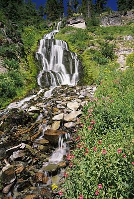 Vidae Falls In Crater Lake National Print by Panoramic Images