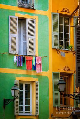 Vieille Ville Windows Print by Inge Johnsson