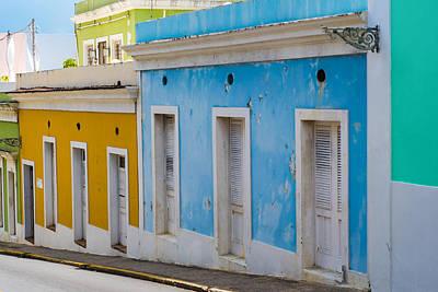 Viejo San Juan Streets Print by Giovanni Arroyo