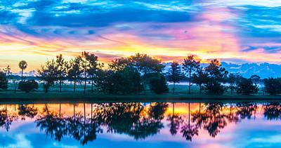 Photograph - Viera Sunrise Scene 2 by Cliff C Morris Jr