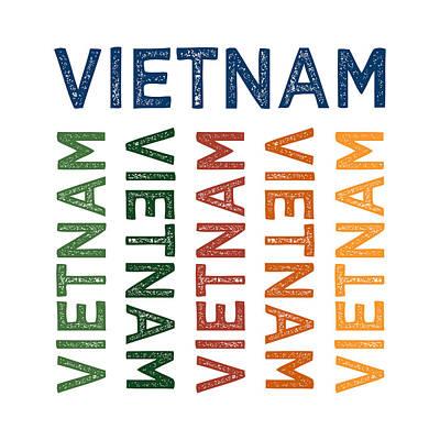 Vietnam Cute Colorful Print by Flo Karp