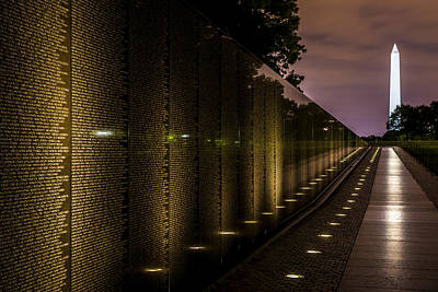 Vietnam Veterans Memorial Print by David Morefield