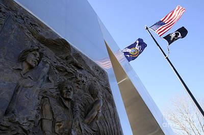 Vietnam War Memorial Photograph - Vietnam War Memorial Idaho Falls by Bob Christopher