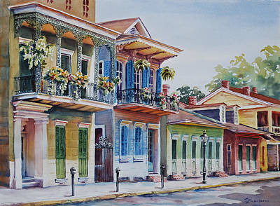 Historic Architecture Painting - Vieux Carre by Sue Zimmermann