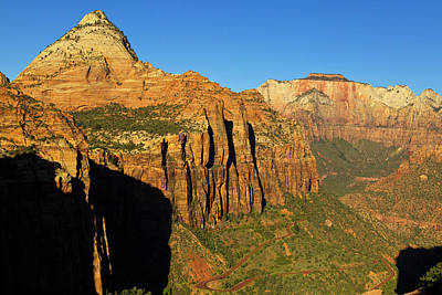 Zion National Park Photograph - View Down Into Zion Canyon From Canyon by Chuck Haney