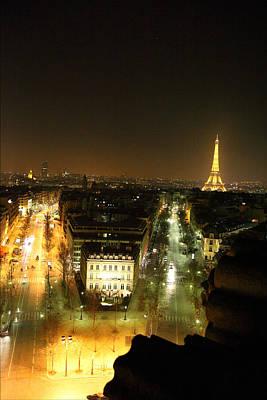 Soldier Photograph - View From Arc De Triomphe - Paris France - 011311 by DC Photographer