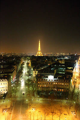 Europe Photograph - View From Arc De Triomphe - Paris France - 011313 by DC Photographer