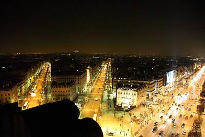 View From Arc De Triomphe - Paris France - 011317 Print by DC Photographer
