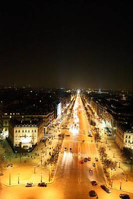 Cityscape Photograph - View From Arc De Triomphe - Paris France - 01135 by DC Photographer