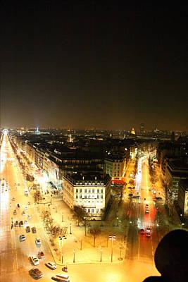 View From Arc De Triomphe - Paris France - 01137 Print by DC Photographer