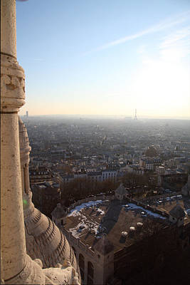 View From Basilica Of The Sacred Heart Of Paris - Sacre Coeur - Paris France - 011310 Print by DC Photographer