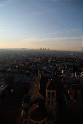 View From Basilica Of The Sacred Heart Of Paris - Sacre Coeur - Paris France - 011317 Print by DC Photographer