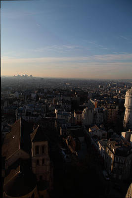 Horizontal Photograph - View From Basilica Of The Sacred Heart Of Paris - Sacre Coeur - Paris France - 011319 by DC Photographer