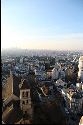 View From Basilica Of The Sacred Heart Of Paris - Sacre Coeur - Paris France - 011320 Print by DC Photographer