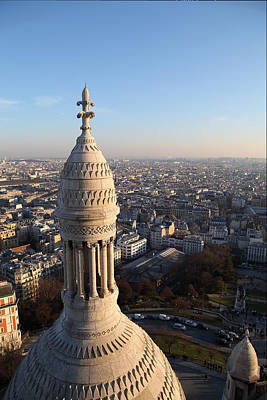 View From Basilica Of The Sacred Heart Of Paris - Sacre Coeur - Paris France - 011334 Print by DC Photographer