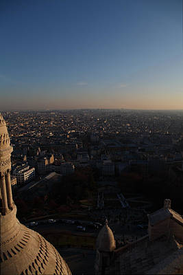 View From Basilica Of The Sacred Heart Of Paris - Sacre Coeur - Paris France - 011335 Print by DC Photographer