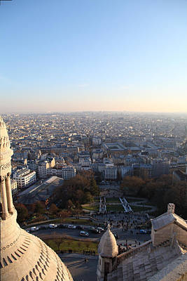 View From Basilica Of The Sacred Heart Of Paris - Sacre Coeur - Paris France - 011336 Print by DC Photographer