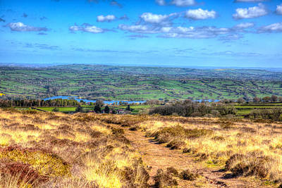 Blagdon Photograph - View From Black Down The Highest Hill In The Mendip Hills Somerset In South-west England  by Michael Charles