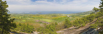Maine Meadow Photograph - View From Dorr Mountain Over Great Meadow Acadia National Park Maine by Keith Webber Jr
