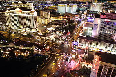 View From Eiffel Tower In Las Vegas - 01131 Print by DC Photographer