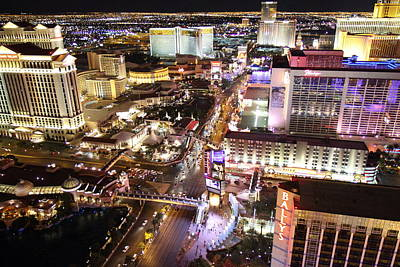 View From Eiffel Tower In Las Vegas - 01134 Print by DC Photographer