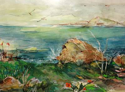 Peconic Painting - View From Greenpoint Condo by Mary Spyridon Thompson