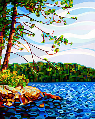 Muskoka Painting - View From Mazengah by Mandy Budan